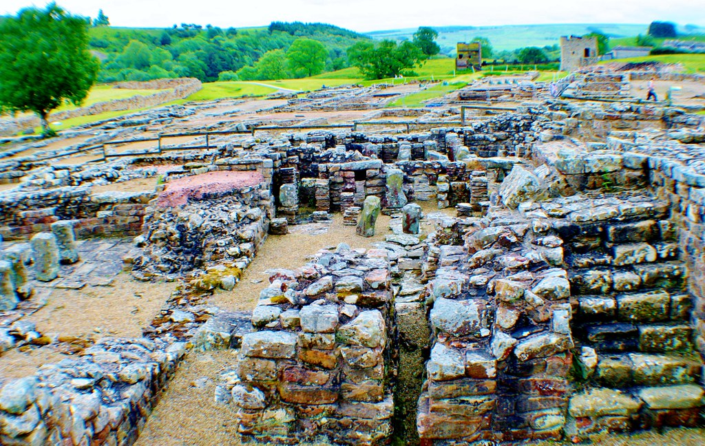 Vindolanda site overview from Bath House