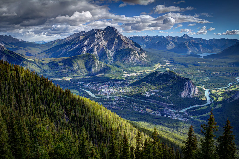 View from Sulphur Mountain HDR