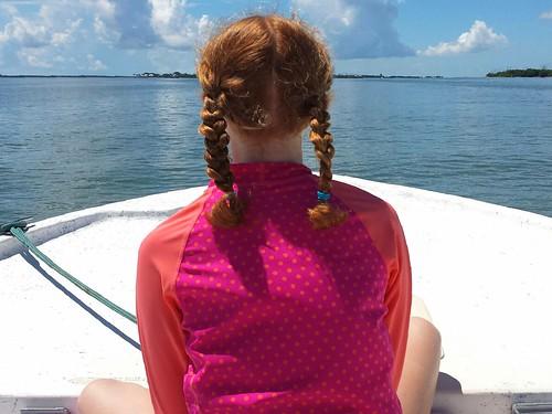 Sarah on boat