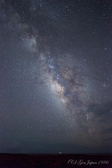 八丈島 南原千畳敷の夜空