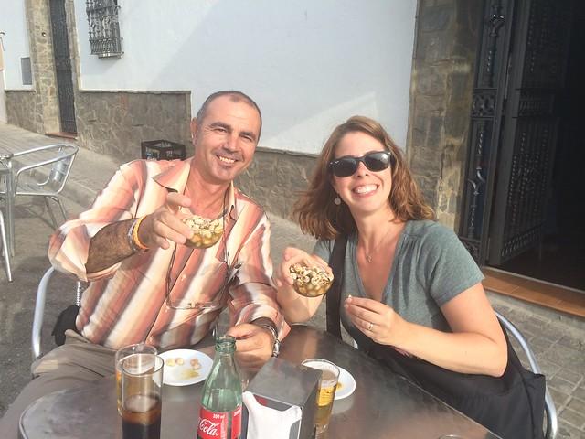 Caracoles y cerveza, Moron de la Frontera, Spain