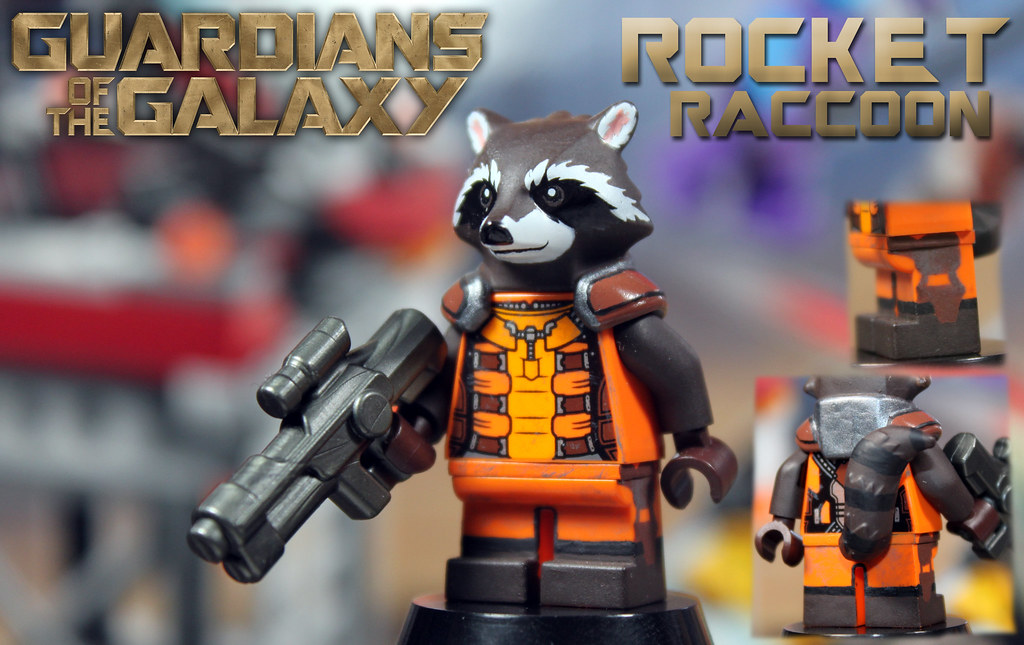 Lego Marvel Super Heroes Rocket Raccoon Custom lego marvel: guardians