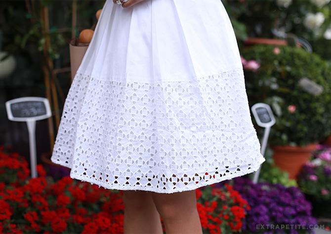 ann taylor white eyelet dress