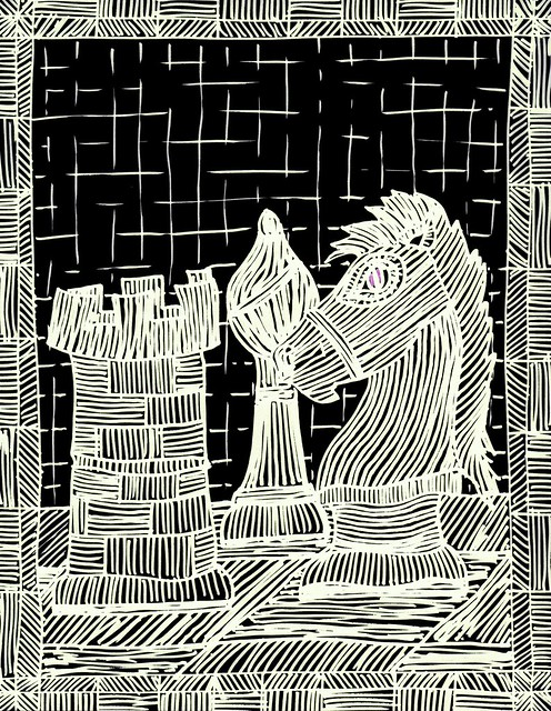 Woodcut Chess