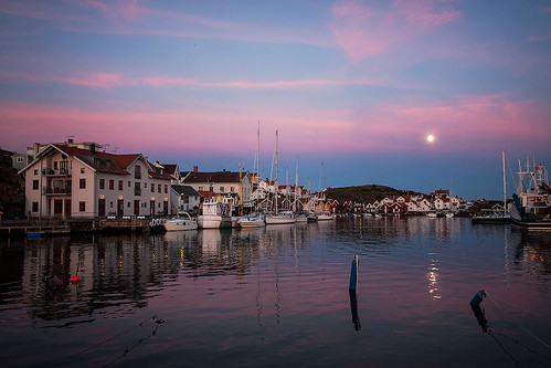 supermoon in Bohuslän, Sweden