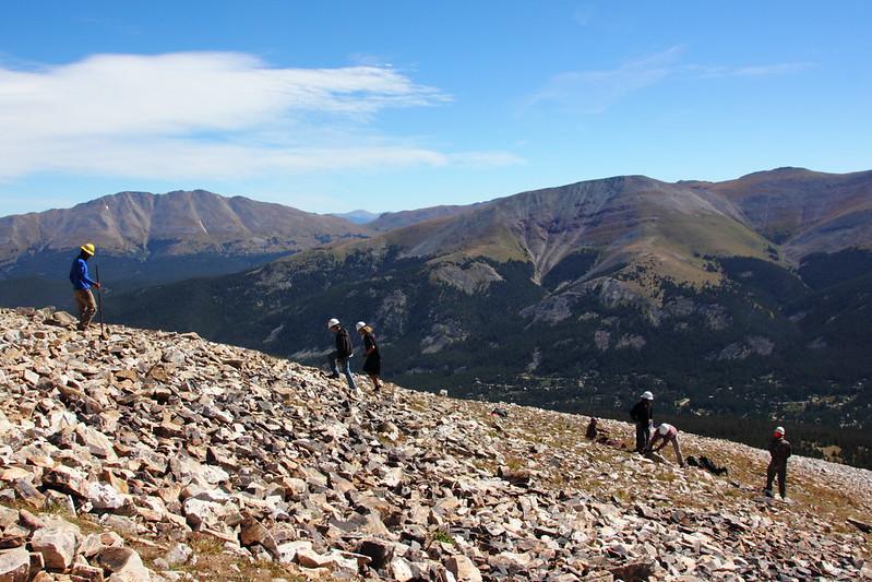 Vapaaehtoiset Quandary Peakilla