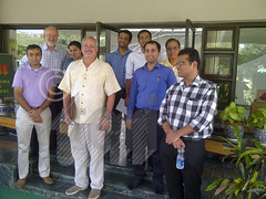 Officials from Pacific Northwest National Laboratory (PNNL), General Microgrids, and India Smart Grid Forum (ISGF) visit the campus of TERI GRAM