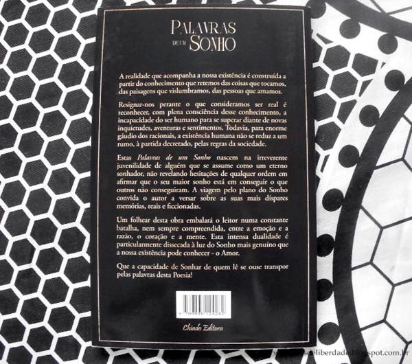 Sinopse e contracapa Palavras de um Sonho, Tiago Pereira