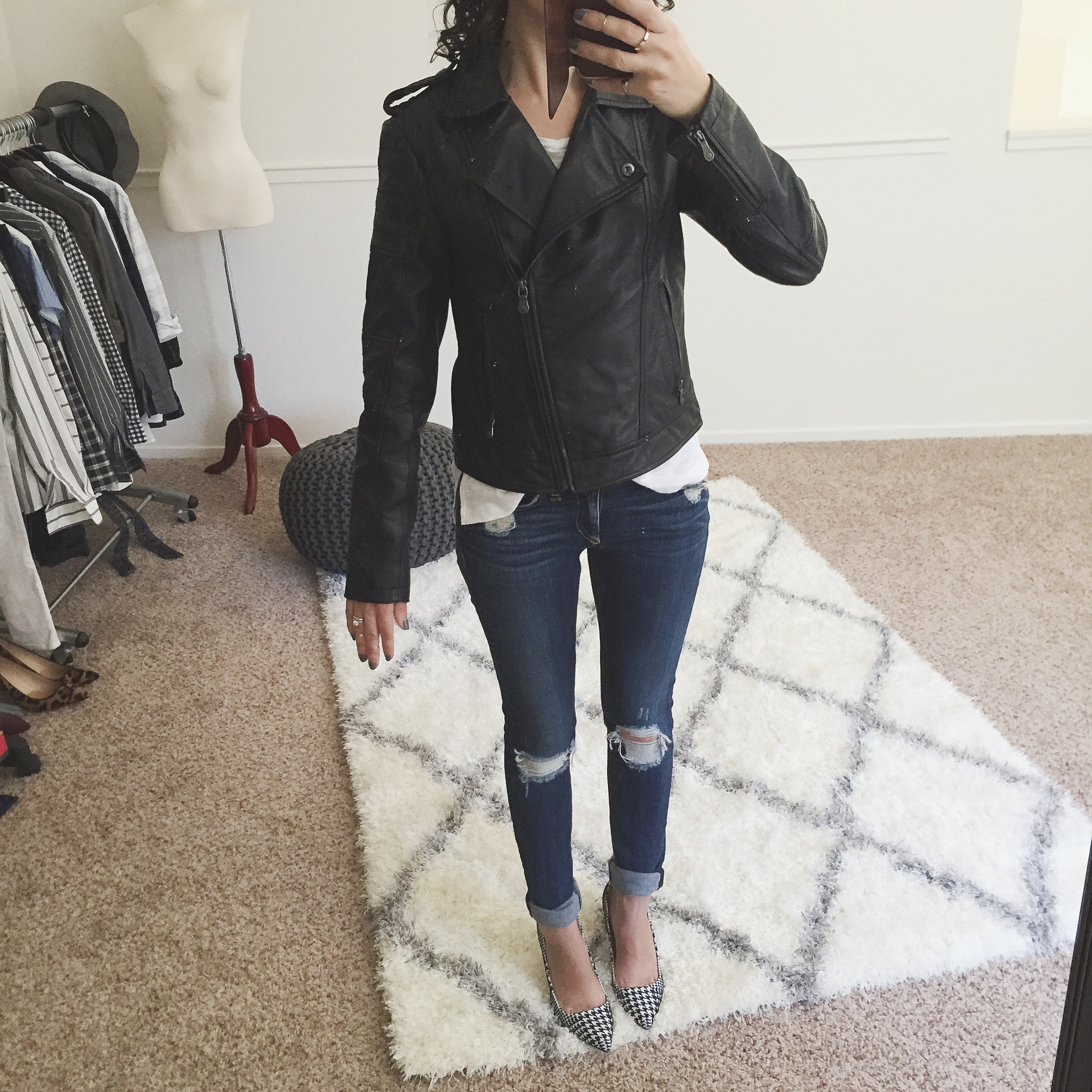 Fit Review Friday - Petite Leather Jacket | Alterations Needed