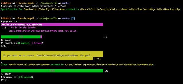 Configure phpspec for DDD