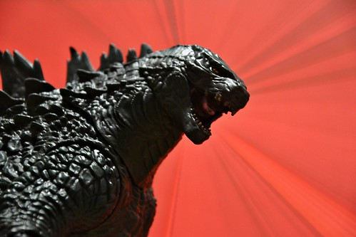 "NECA 24"" head-to-tail Electronic Godzilla"