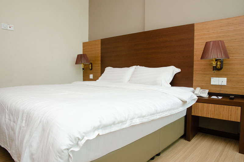 Bed in Aroma Hotel Butterworth Penang, Malaysia