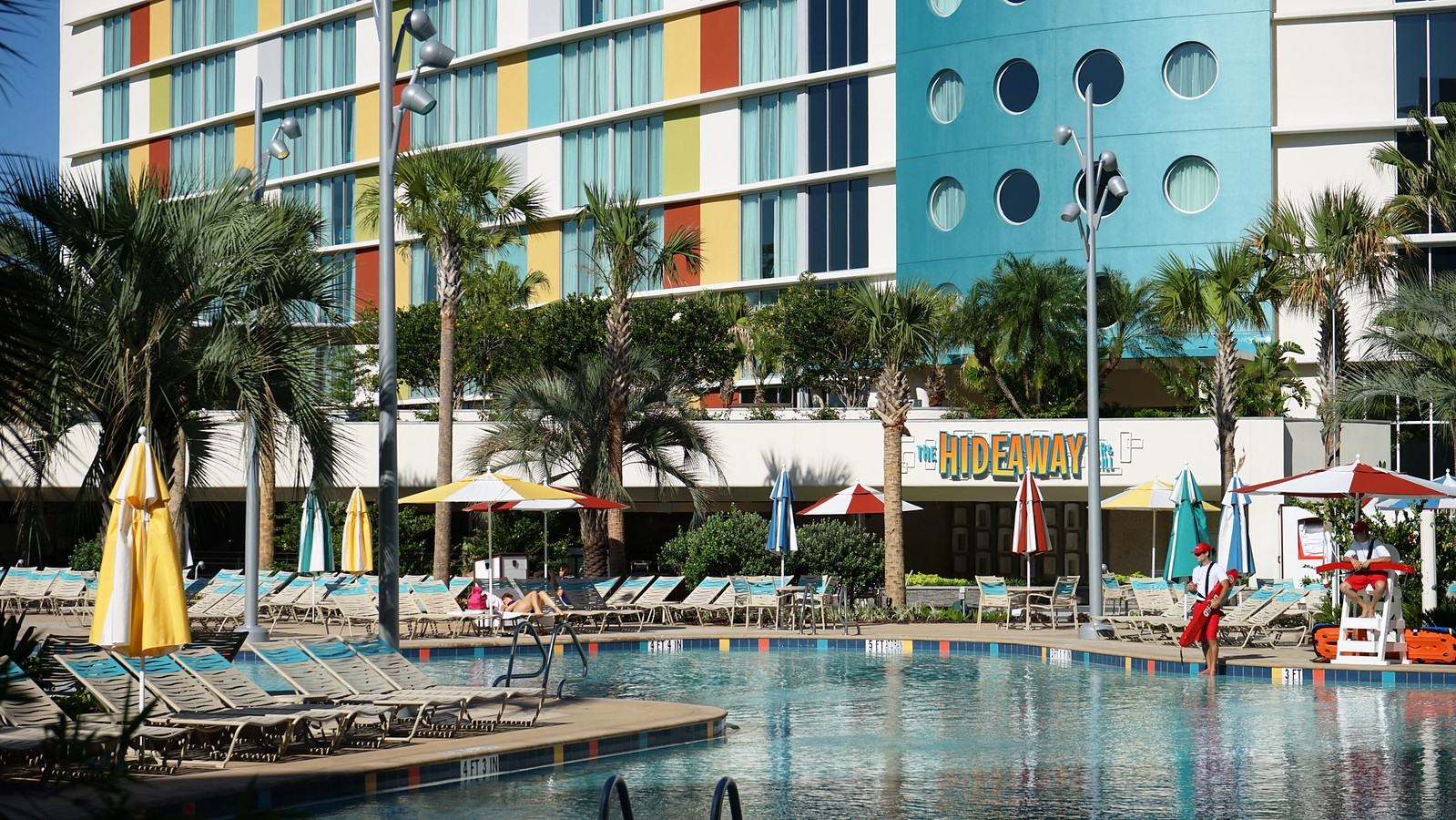 Cabana Bay Beach Resort - South Courtyard, lazy river, and Hideaway ...