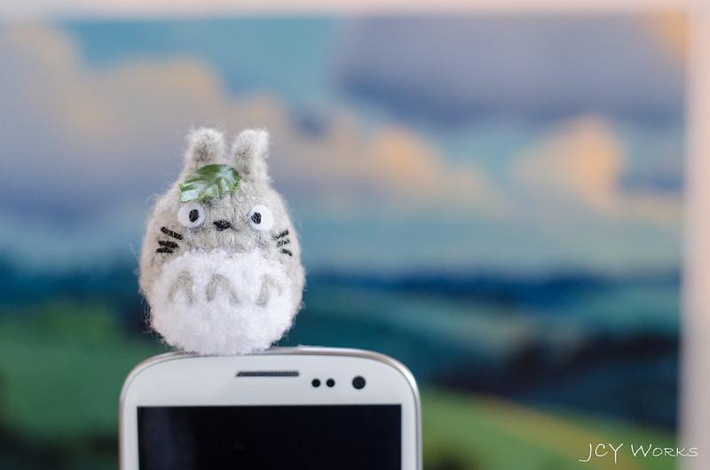Cute My Neighbor Totoro Amigurumi Crochet Yarn Smart Phone Earphone Plug 04