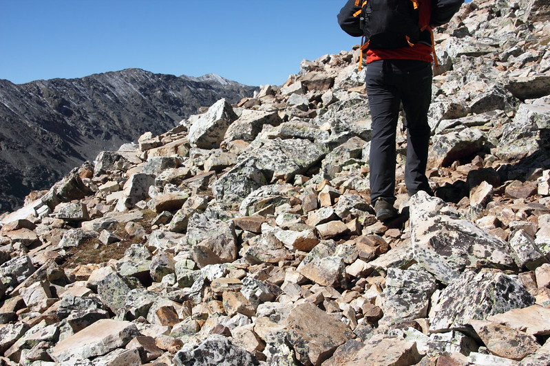 Summiting Quandary Peak