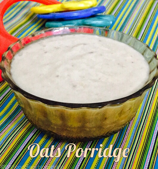 oats porridge for babies