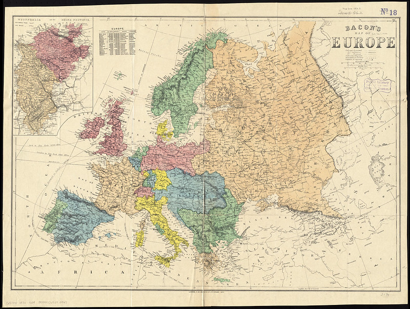 Bacon's map of Europe