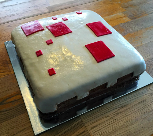 Julia's Minecraft Cake for her 11th birthday