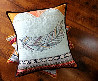 Wild and Free feather pillow maureen cracknell Flickr