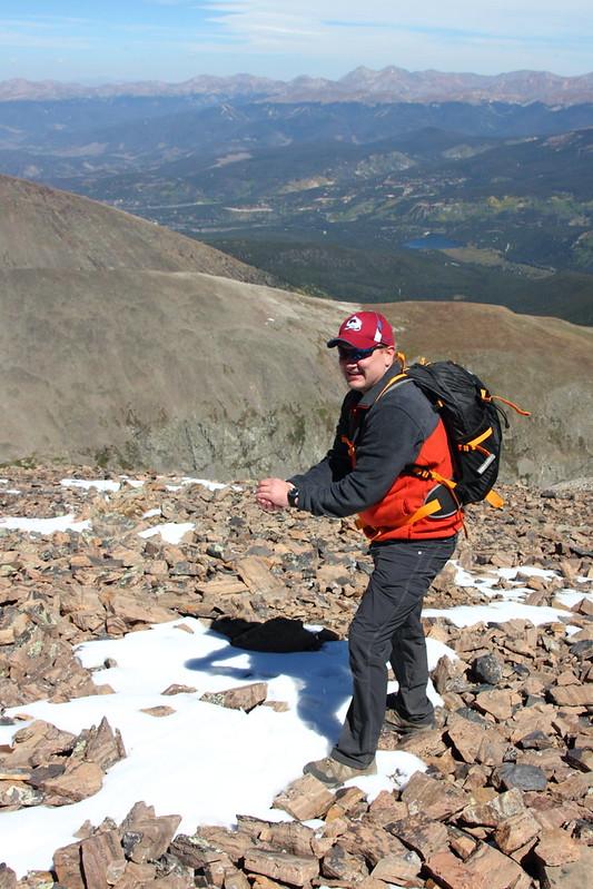 Summiting Quandary Peak