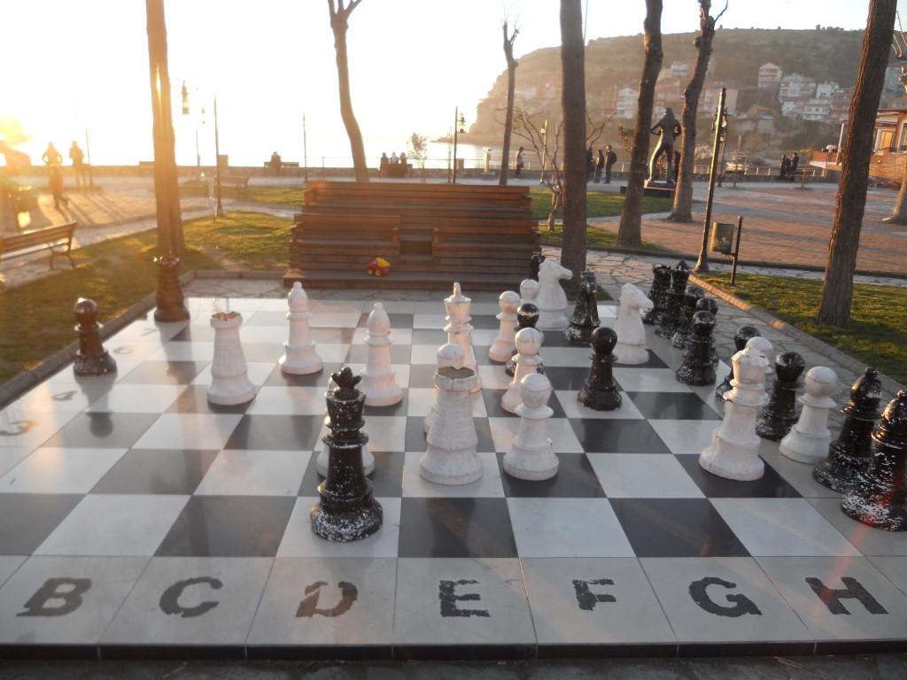 公園裡的西洋棋