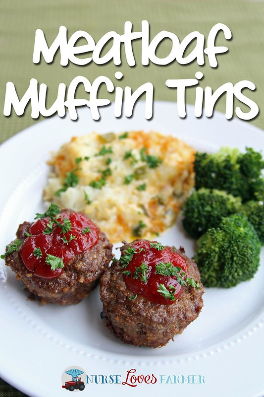 Meatloaf Muffin Tins. Individual meatloaves for everyone! Serve with cheesy potatoes (recipe included) and a tall, cold glass of milk!