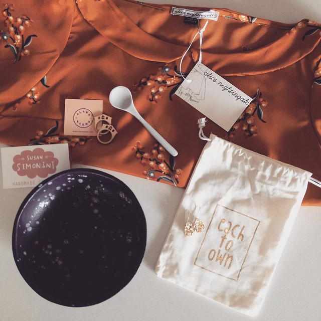 Good day Sunshine! What a wonderful day to celebrate the talent that the Brisbane craft and design scene has on offer. I could have spent the whole day at the @finders_keepers market today, and a whole lot more money! These goodies came home with me - an