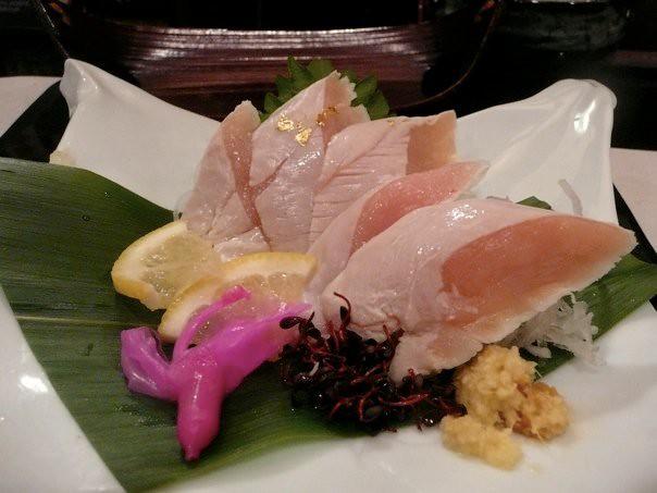 Chicken sashimi in Nagoya