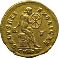 Empress Galla Placidia solidus reverse