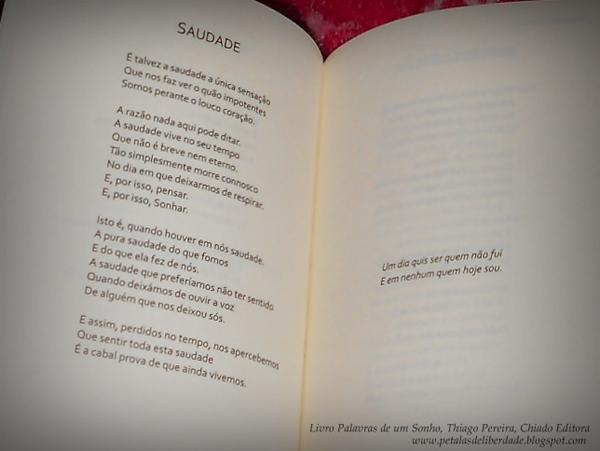 Saudade, Tiago Pereira