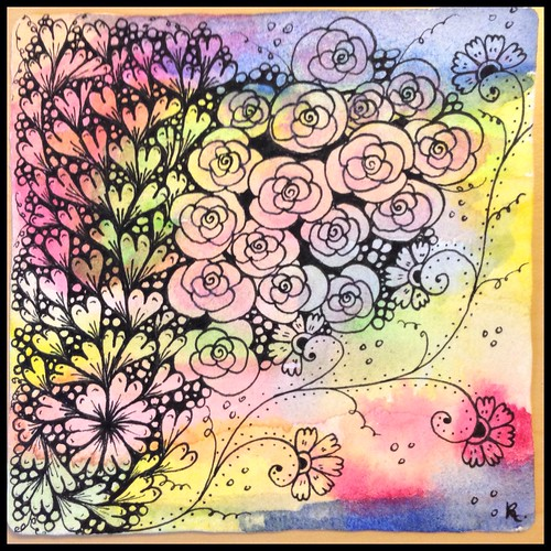 Zentangle 92, for The Diva's Weekly Challenge #222