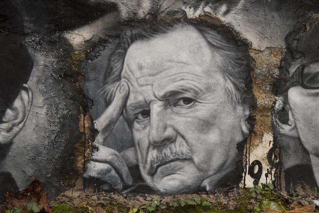 Régis Debray, painted portrait _DDC1554
