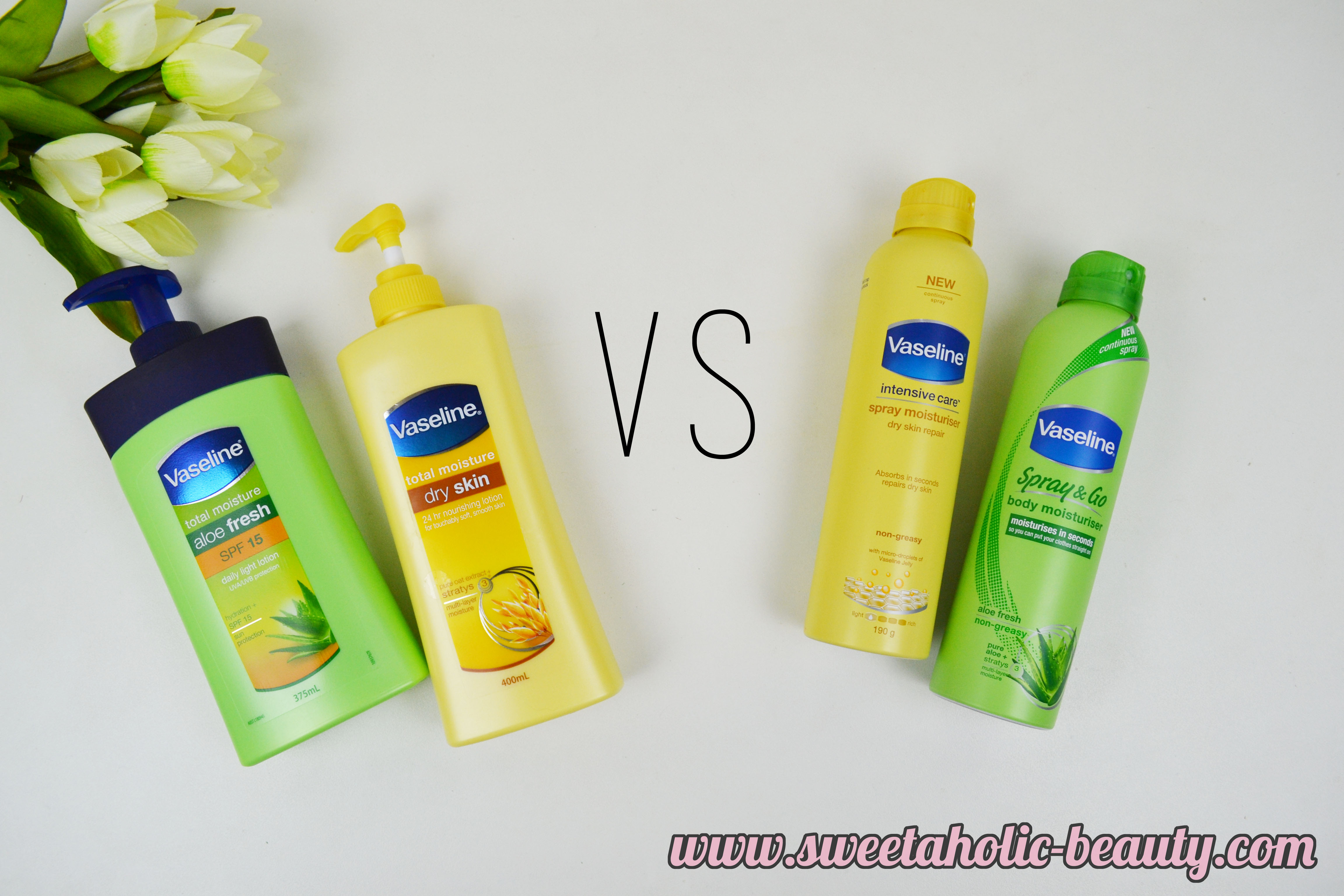 Vaseline: Lotion vs Spray Review - Sweetaholic Beauty