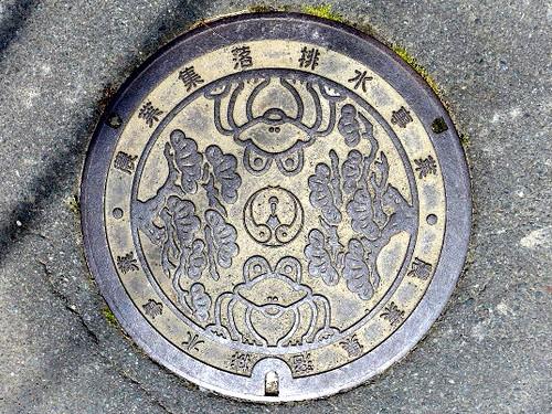 Matsusaka Mie, manhole cover 3 (三重県松阪市のマンホール3)