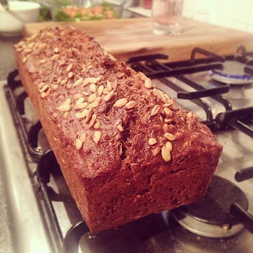 Dark Danish rye bread