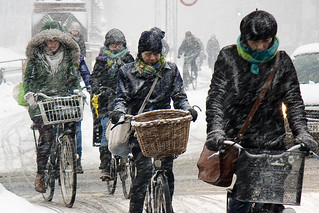 Copenhagen February Traffic - Cycling in Winter in Copenhagen | by Mikael Colville-Andersen