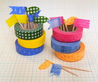 washi tape food picks | by gamene