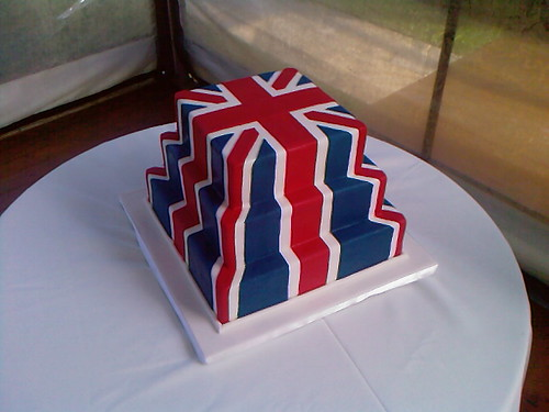 Union Jack/ British Flag Cake | by ozcake