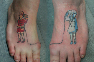 foot tattoo | by Deanna Wardin @ Tattoo Boogaloo