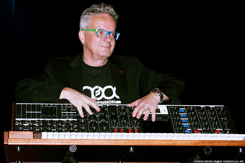 Mark Mothersbaugh & the Minimoog Voyager XL | by Moog Music Inc