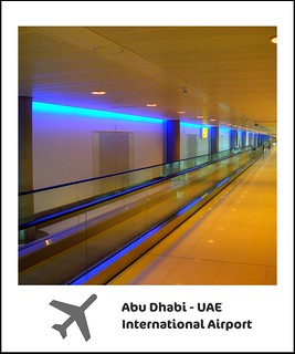 The ultra-modern walkways at the Abu Dhabi International Airport - A wonderful airport with worldwide connections thanks to Etihad, the national carrier of the UAE! Enjoy your flights! With love!:) | by || UggBoy♥UggGirl || PHOTO || WORLD || TRAVEL ||