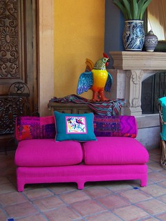Hot Pink Sofa | by VEGA'S INTERIORES