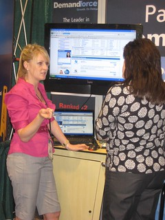 Lindsey giving a demo of Demandforce D3 at CDA South, 2010. | by Demandforce