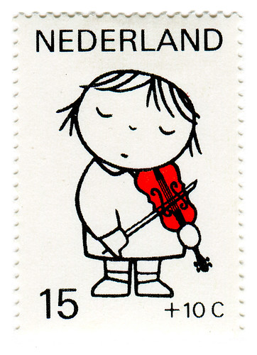 Netherlands Postage Stamp: Dick Bruna, violin | by karen horton