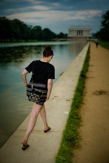 Stepping lightly by the reflecting pool | by gdudg