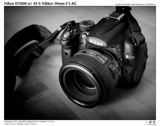 Nikon D5000 w/AF-S Nikkor 50mm f/1.4G | by tychay