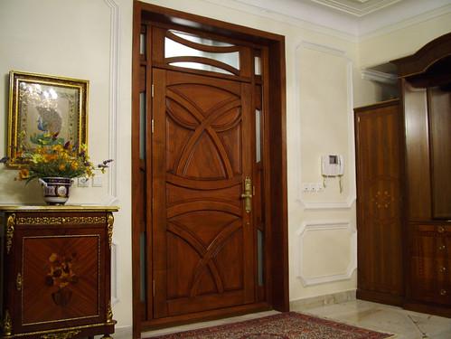 custom made wooden entry door