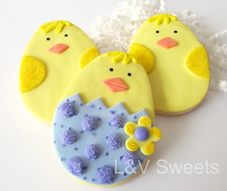Easter Chick cookie | by L&V sweets