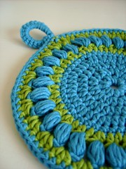 Round crochet pot holder - easy crochet pattern | by CasaDiAries