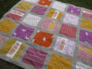 Fairytale Quilt Top from the grass | by StitchedInColor